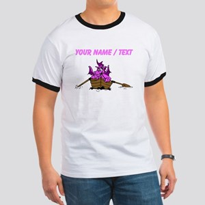 Custom Pink Dragon On Boat T-Shirt