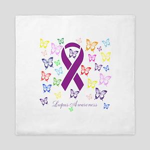 Lupus Multicolored Butterfly Awareness Queen Duvet
