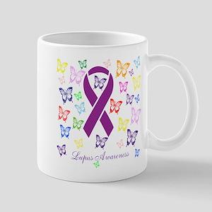 Lupus Multicolored Butterfly Awareness Mugs