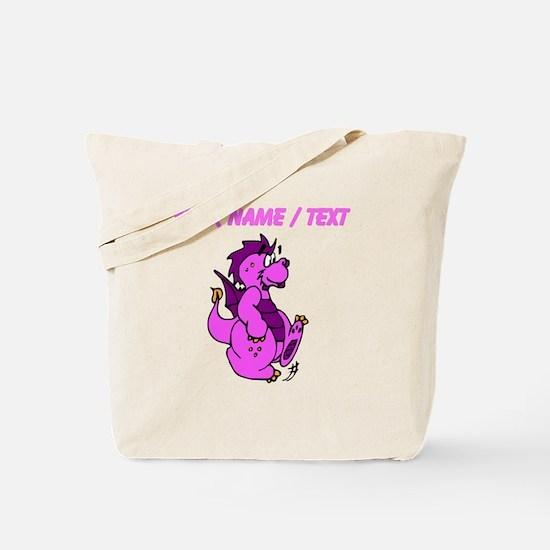 Custom Pink Dragon Walking Tote Bag