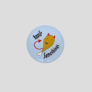 Satanic Chicken Leg (blue) Mini Button