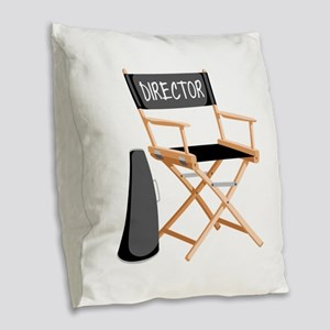 Director Burlap Throw Pillow