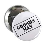 """Groomsman Stamp 2.25"""" Button (100 pack)"""