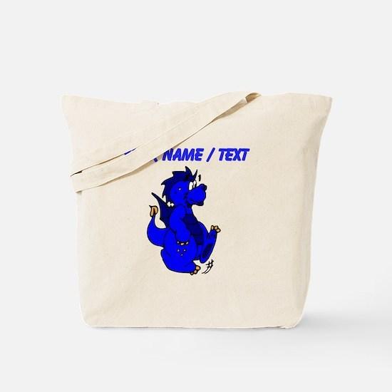 Custom Blue Dragon Walking Tote Bag