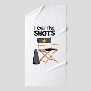 I Call the Shots Beach Towel