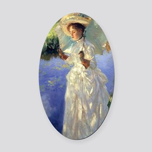 Sargent - Morning Walk Oval Car Magnet