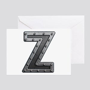 Z Metal Greeting Card
