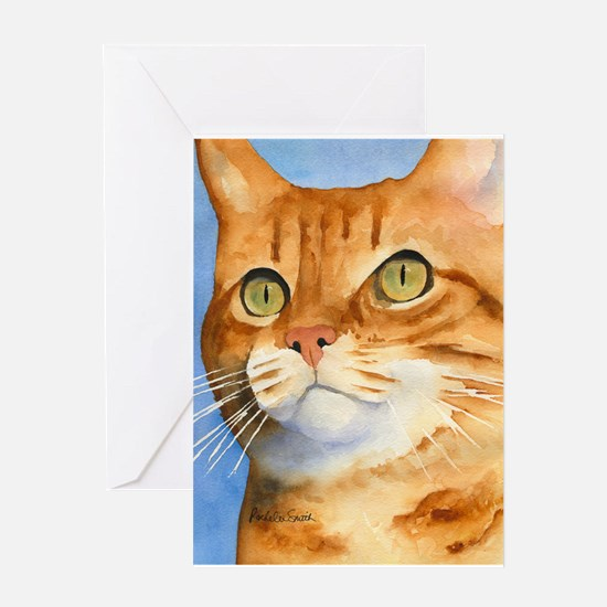 Red / Orange Tabby Greeting Cards