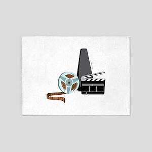 Hollywood Film Movie 5'x7'Area Rug
