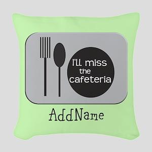 CUSTOMIZE miss Cafeteria Woven Throw Pillow