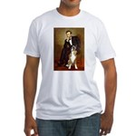 Lincoln & his Boxer Fitted T-Shirt