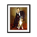 Lincoln & his Boxer Framed Panel Print