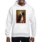 Lincoln & his Boxer Hooded Sweatshirt