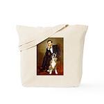 Lincoln & his Boxer Tote Bag