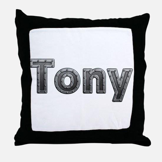 Tony Metal Throw Pillow