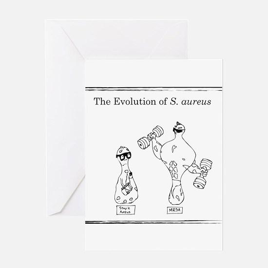 The Evolution of Staph aureus Greeting Cards