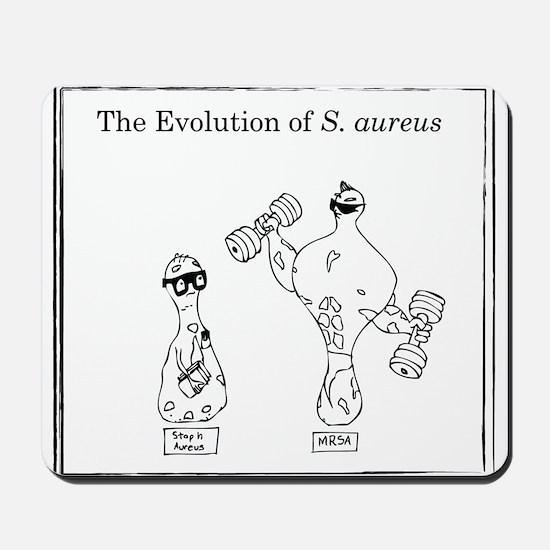 The Evolution of Staph aureus Mousepad