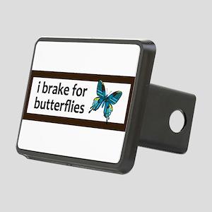 I brake for butterflies bumper sticker Hitch Cover