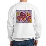 Love Hearts + Poem Words Sweatshirt