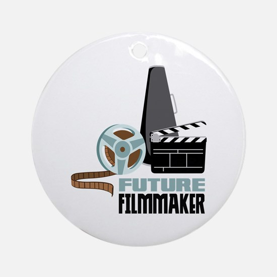 Future Filmmaker Ornament (Round)
