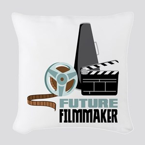 Future Filmmaker Woven Throw Pillow