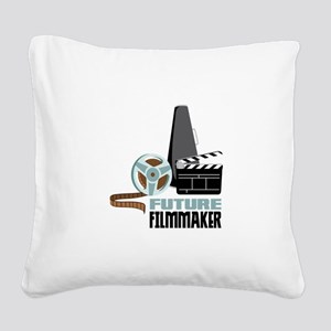 Future Filmmaker Square Canvas Pillow