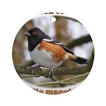 Spotted Towhee Ornament (Round)