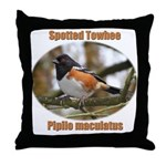 Spotted Towhee Throw Pillow