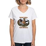 Spotted Towhee Women's V-Neck T-Shirt
