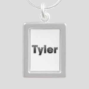 Tyler Metal Silver Portrait Necklace