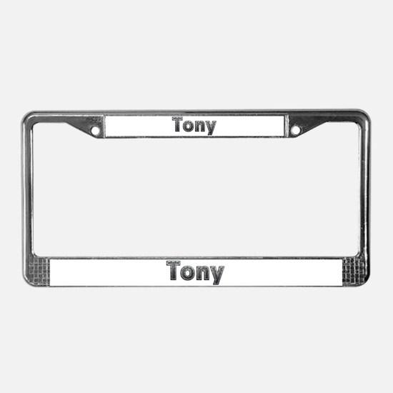 Tony Metal License Plate Frame