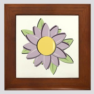 Purple Cartoon Flower Spring Framed Tile