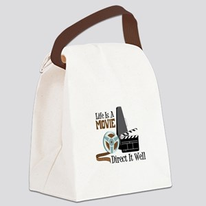 Life is a Movie Direct it Well Canvas Lunch Bag