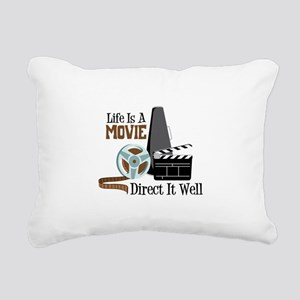 Life is a Movie Direct it Well Rectangular Canvas