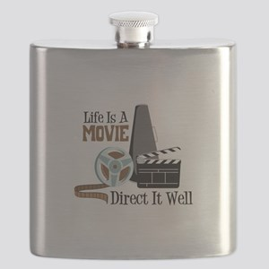 Life is a Movie Direct it Well Flask