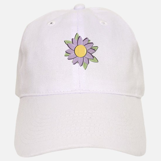 Purple Cartoon Flower Spring Baseball Baseball Cap