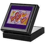 Love Hearts + Poem Words Keepsake Box