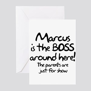 Marcus is the Boss Greeting Cards (Pk of 10)
