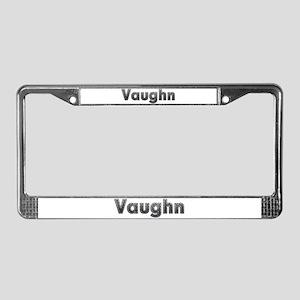 Vaughn Metal License Plate Frame