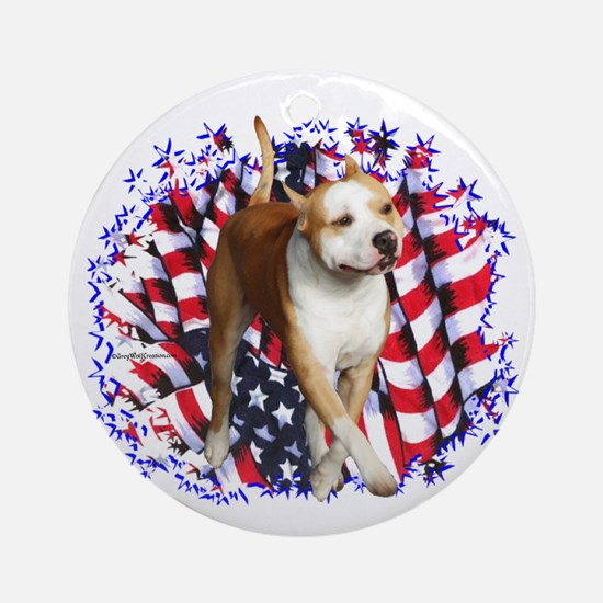 AmStaff Patriot Ornament (Round)