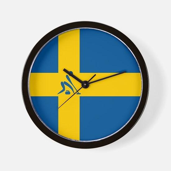 Team Curling Sweden Wall Clock