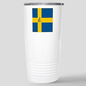 Team Curling Sweden Stainless Steel Travel Mug