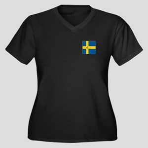 Team Curling Women's Plus Size V-Neck Dark T-Shirt