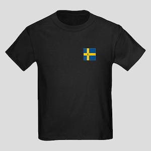 Team Curling Sweden Kids Dark T-Shirt