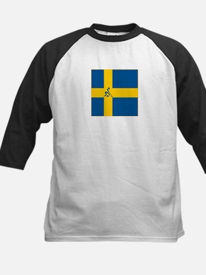 Team Curling Sweden Kids Baseball Jersey