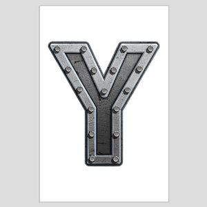 Y Metal Large Poster