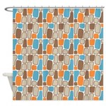 Organic Shapes Shower Curtain
