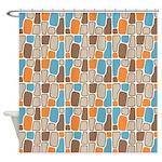 Organic Shapes Shower Curtain