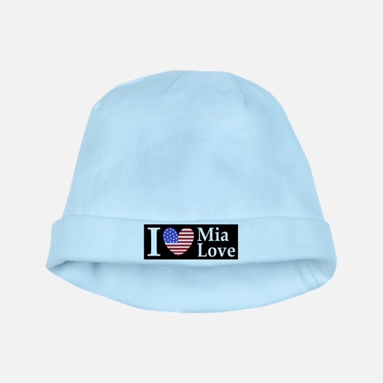 Mia Love I Love large d baby hat