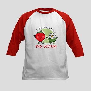 Big Sister to be (Strawberry) Kids Baseball Jersey